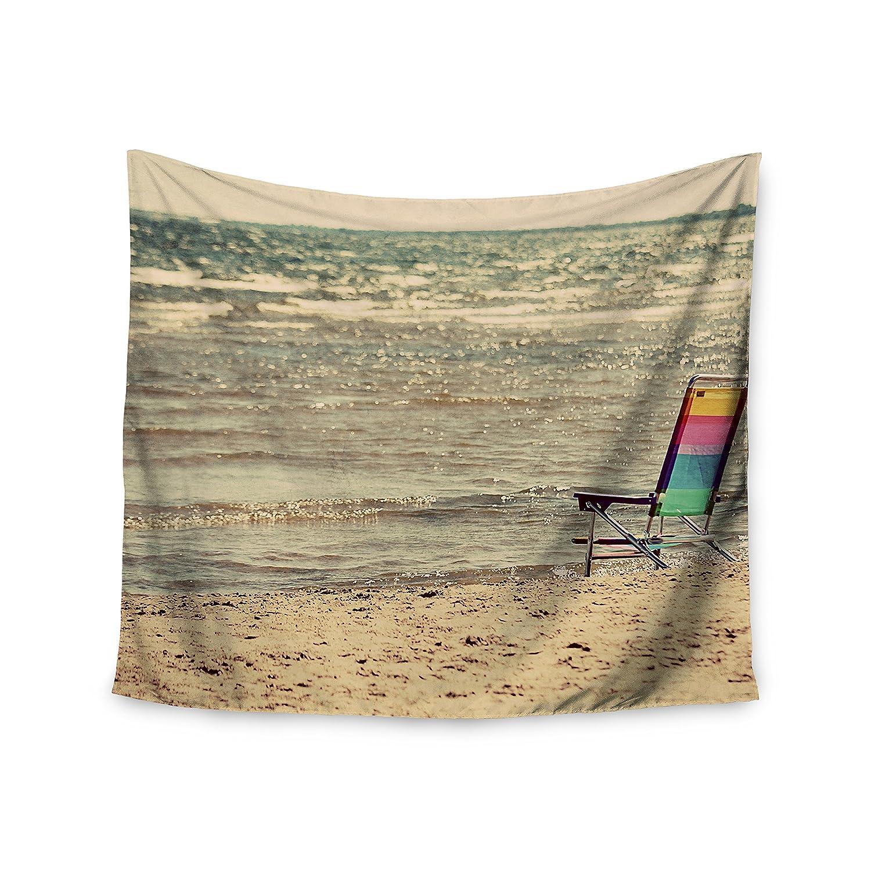 Kess InHouse Angie Turner Beach Chair Sandy Beach Wall Tapestry, 51' X 60'
