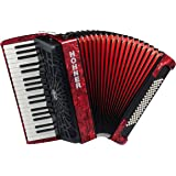Hohner a16431s Bravo línea Facelift III -80cromática Bass Piano acordeón (con funda, color rojo
