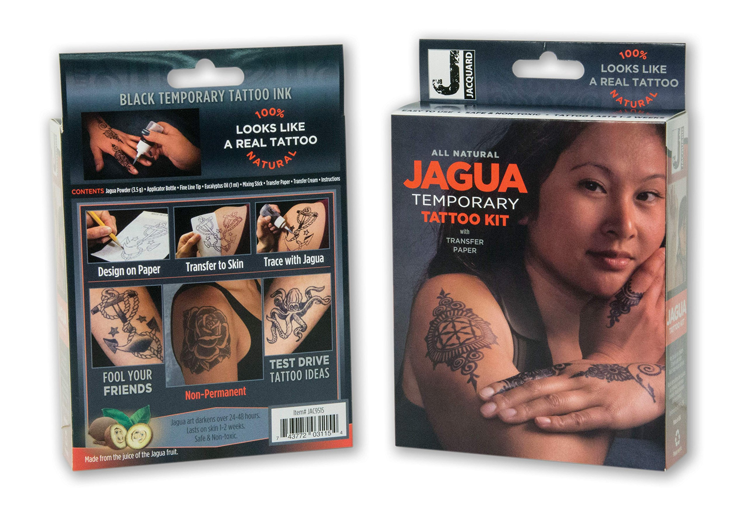 Jacquard Jagua Temporary with Transfer Paper Tattoo Kit (8 Piece) by Jacquard (Image #3)