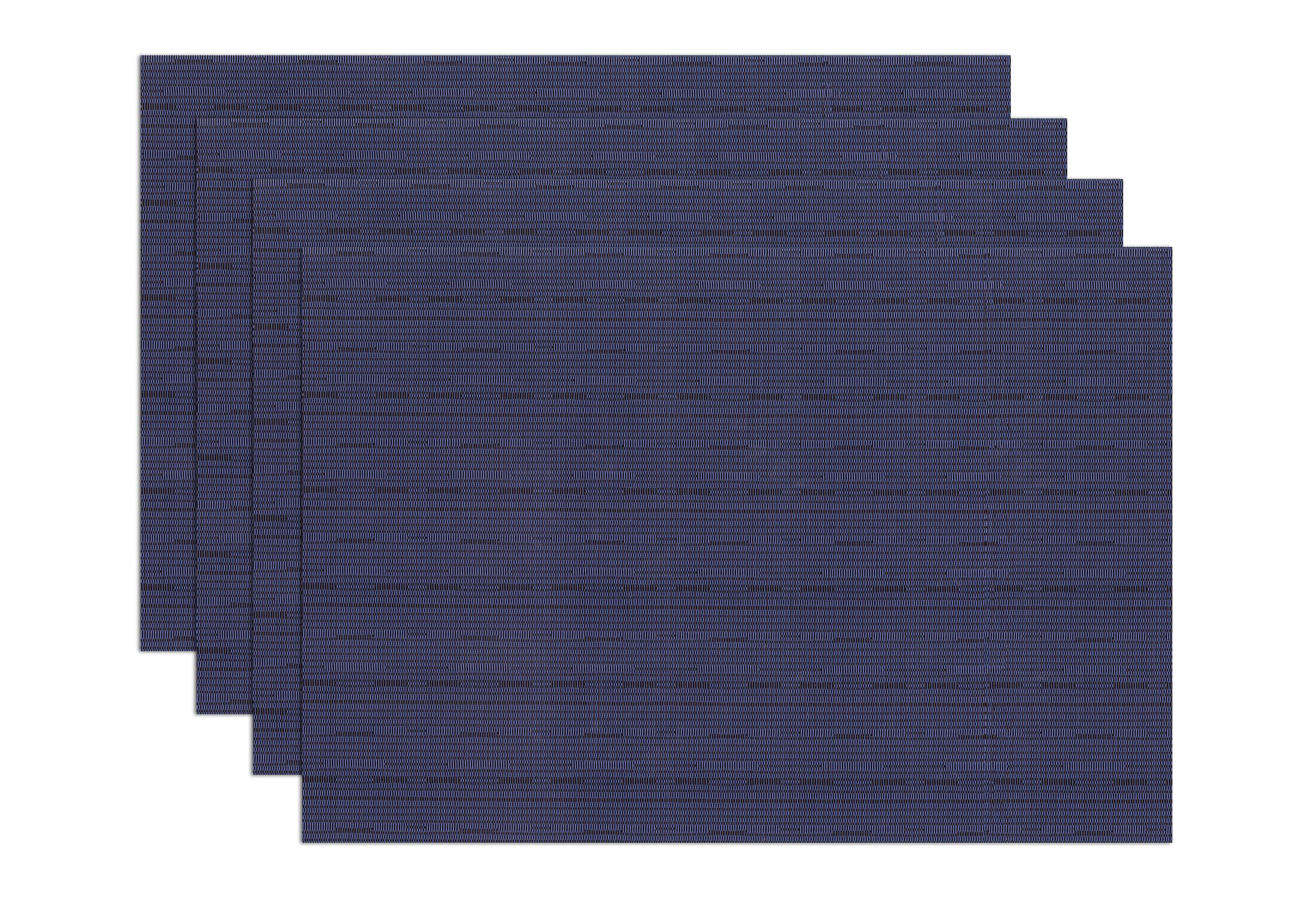 Ritz TechStyle Reversible Woven Grass Cloth Placemats, Blue, Set of 4 - Set of 4 grass cloth textured reversible placemats; blue color Made from easy to clean woven, PVC coated polyester: long lasting, durable, protects table. Features a natural grass cloth look in camel; great for indoor or outdoor dining - placemats, kitchen-dining-room-table-linens, kitchen-dining-room - 91EDDNYzHwL -