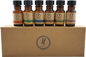 Pure Jolly Premium Aromatherapy Essential Oil Kit Top 6 Essential Oils Set 10ml 100% Pure & Therapeutic grade