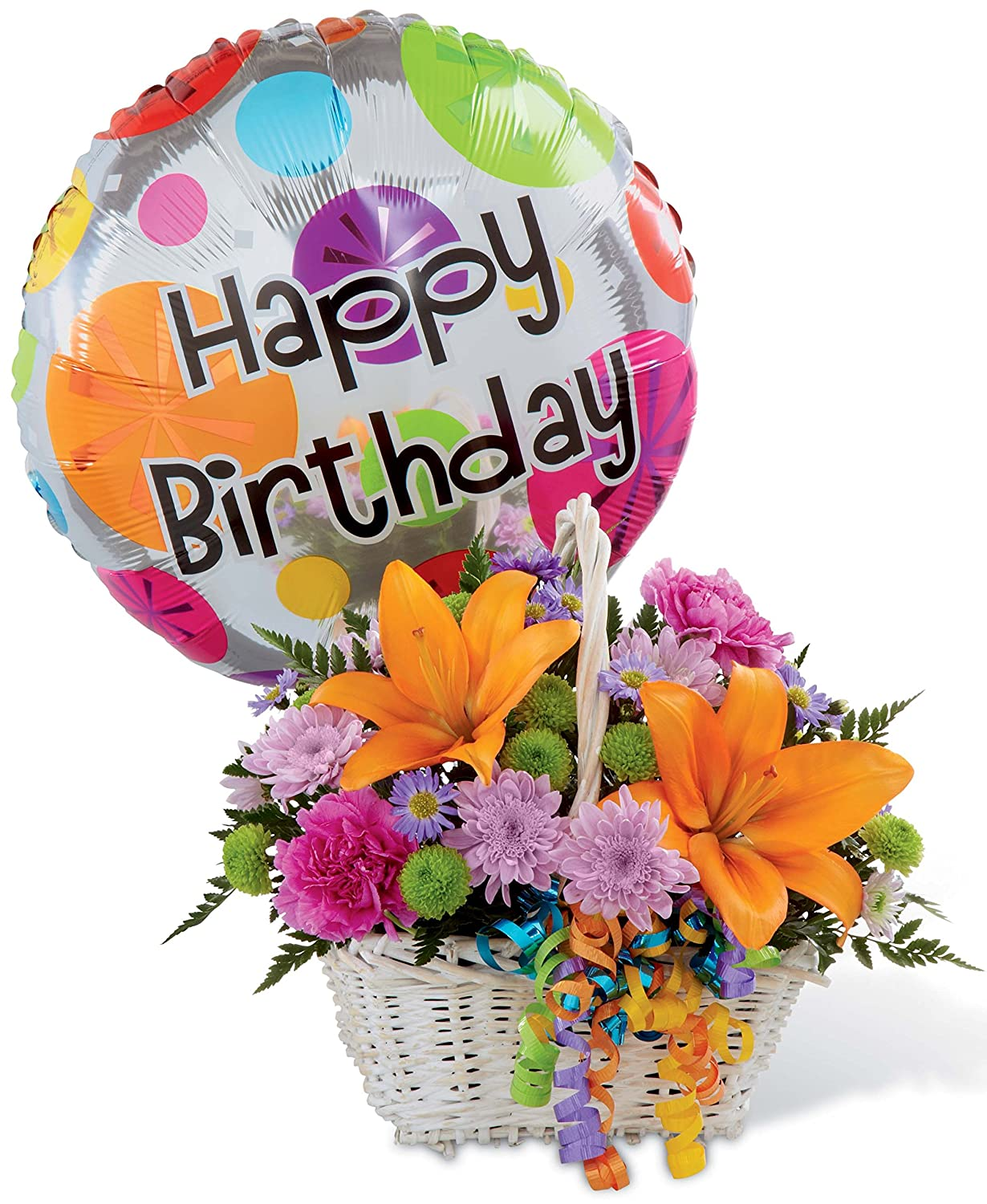 The Birthday Blooms Basket Grower Direct