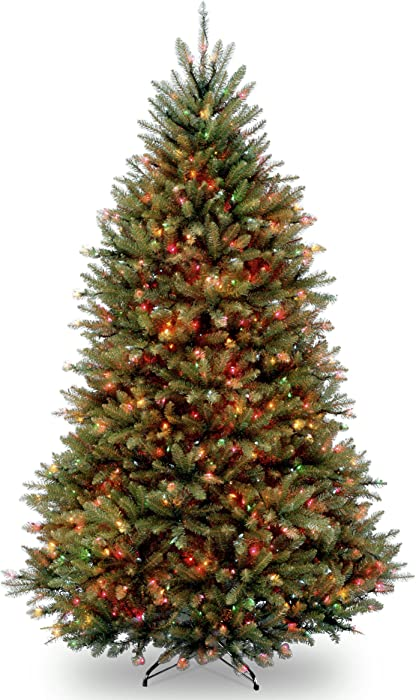 National Tree 7 Foot Dunhill Fir Tree with 700 Multicolor Feet, Multi-color Lights