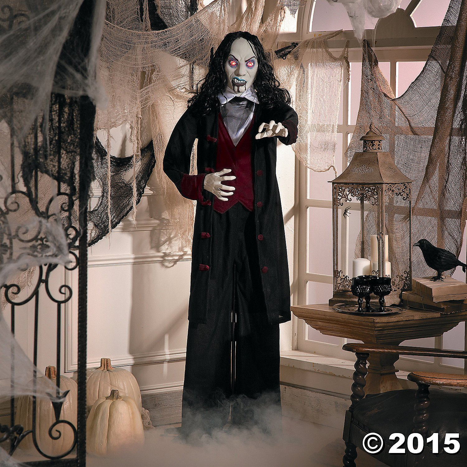 Amazon Gothic Vampire Man Halloween Spooky Creepy Evil Scary Decor Graveyard Haunted House Prop Fall Autumn Harvest Thanksgiving Home Accent