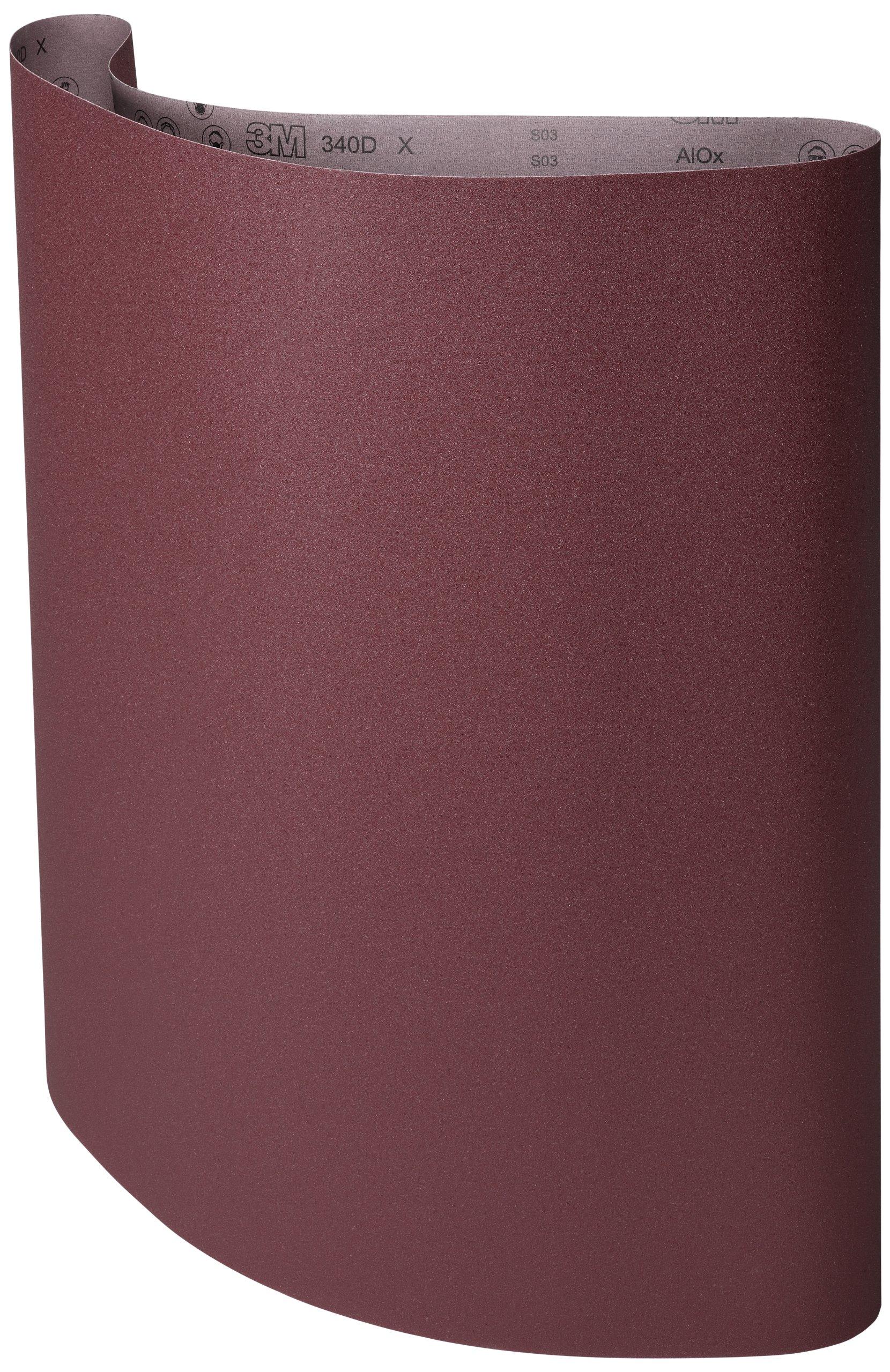 3M Cloth Belt 340D, Aluminum Oxide, 37'' Width 75'' Length, P150 Grit (Pack of 5) by 3M