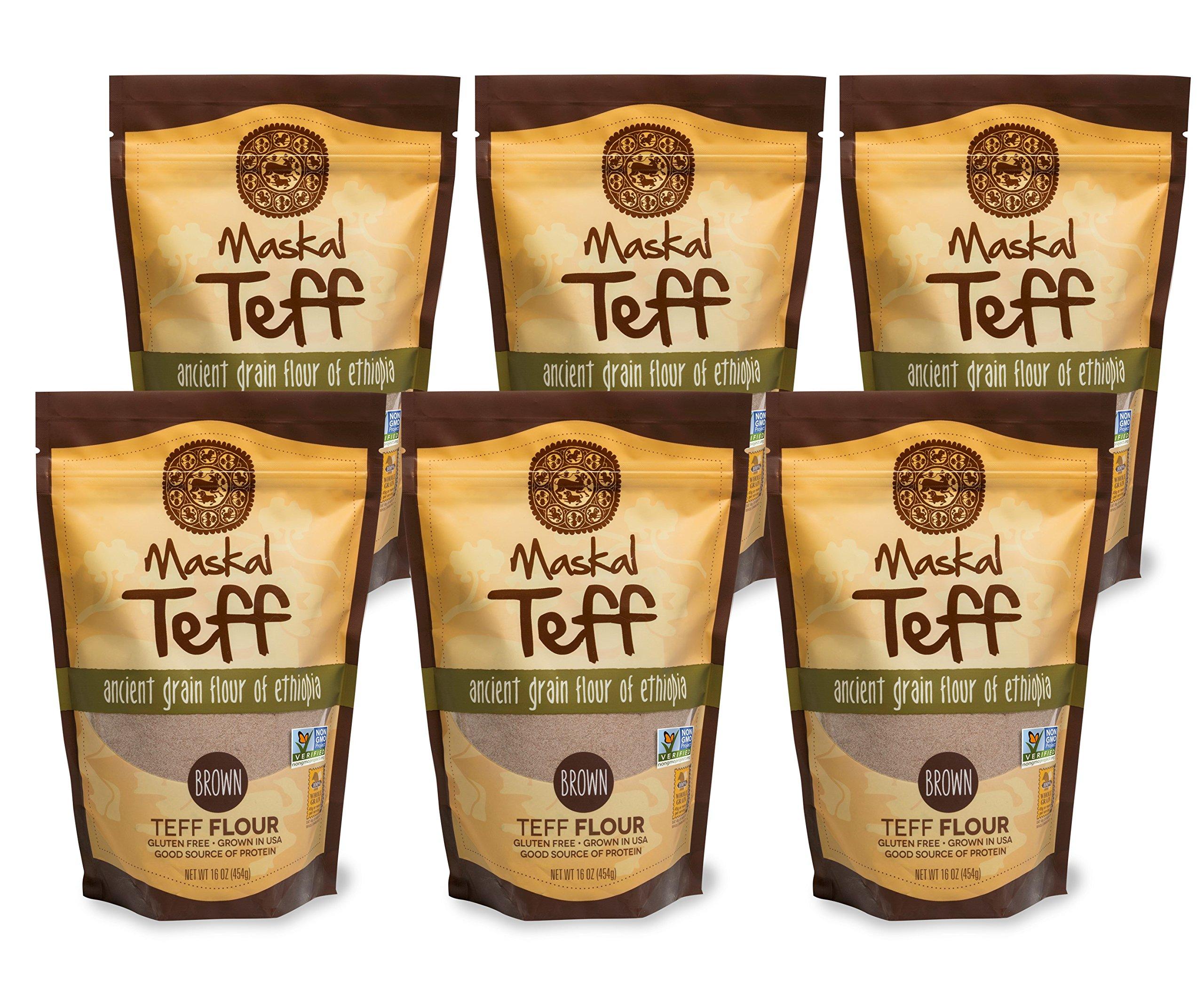 Amazon.com : Maskal Teff Ivory Teff Flour, 16 Ounce (6