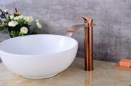 New Brass Ceramic Valve Bathroom Sink Faucet Chrome Surface Single Handle  Deck Mounted Waterfall Tap Basin