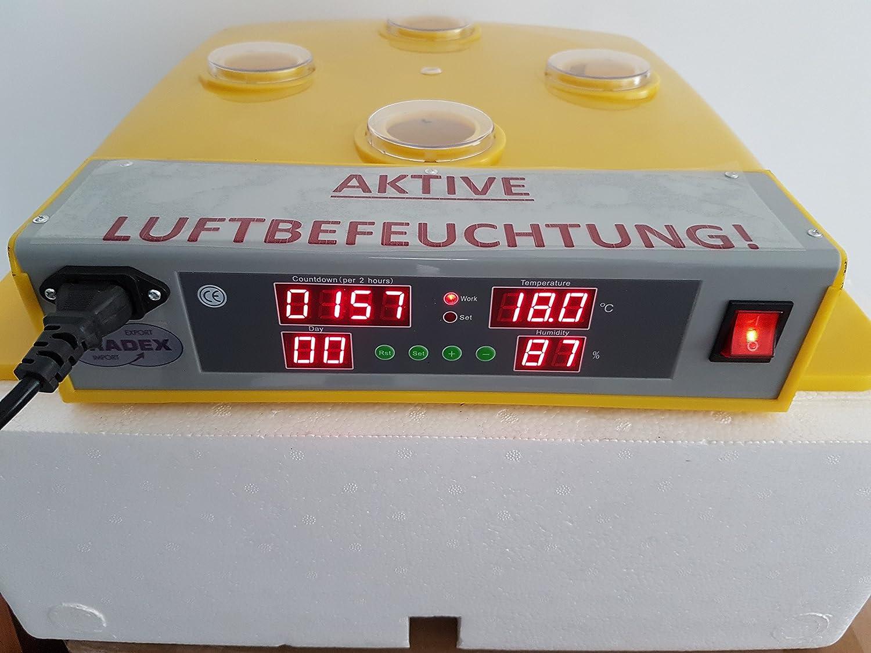 Incubadora eléctrica, vollautomatisch, Nuevo: activa humidificación de aire