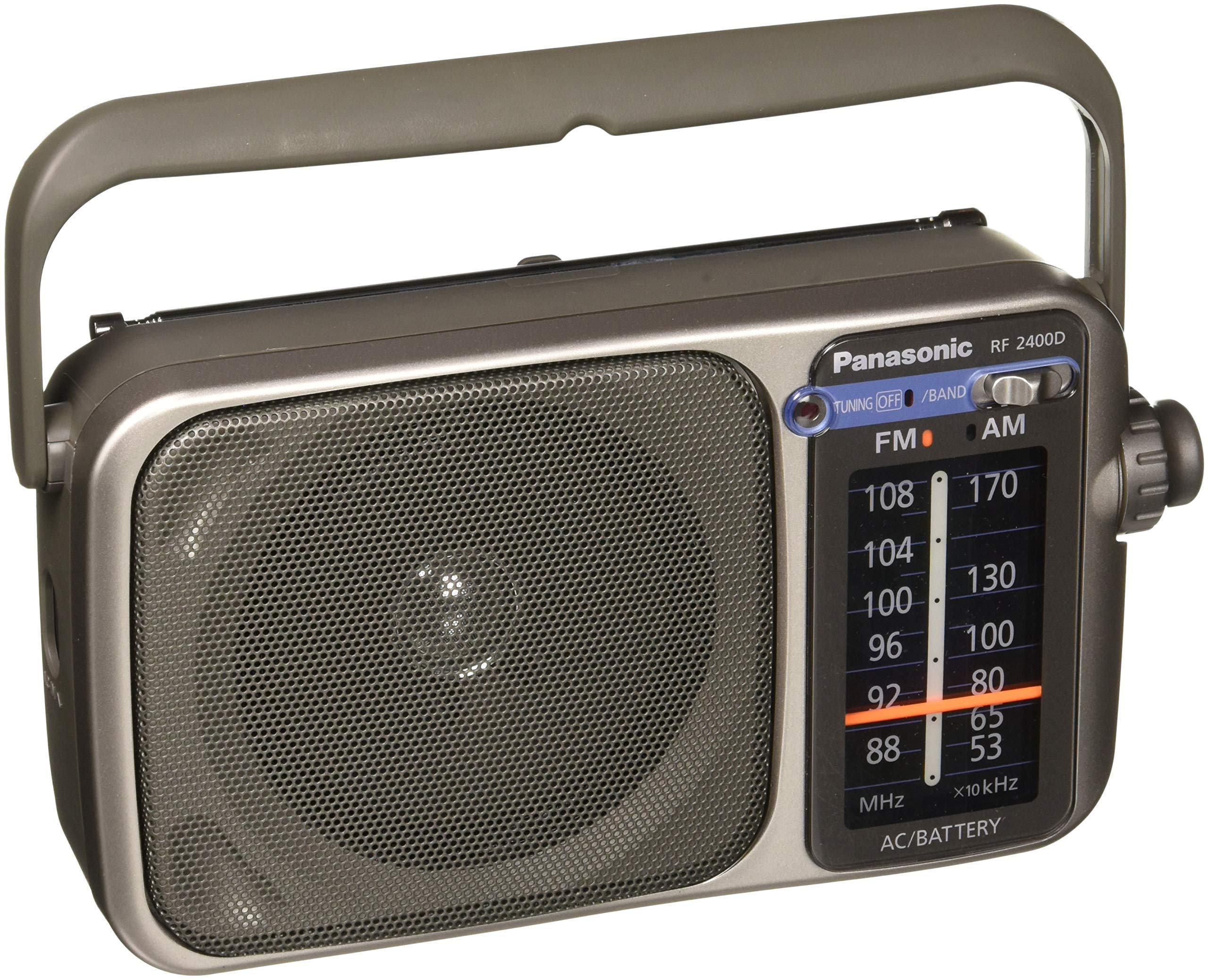 Panasonic RF-2400D AM / FM Radio, Silver (Renewed)