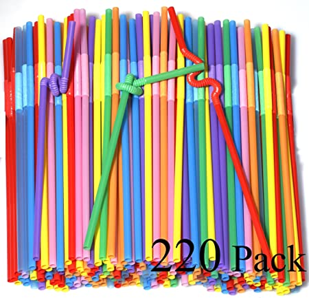 Plastic Thick Drinking Straw Reusable Well Made Standard Convenient Tall Cups