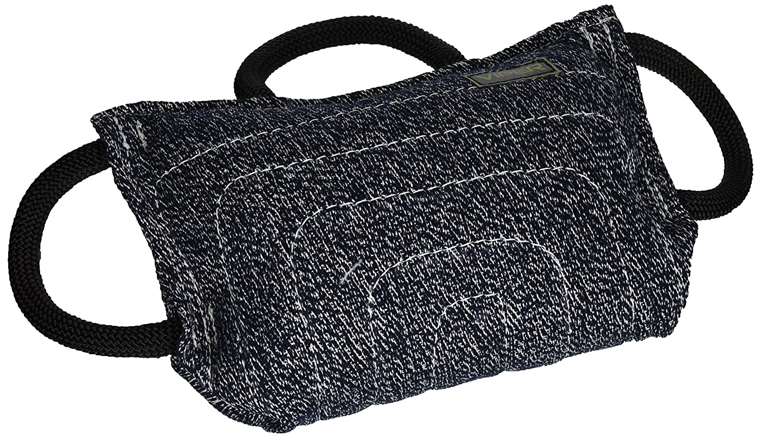 Viper Jute or Synthetic Linen Classic Bite Pillow Tug Toy Reward for Adult Dogs and Puppies