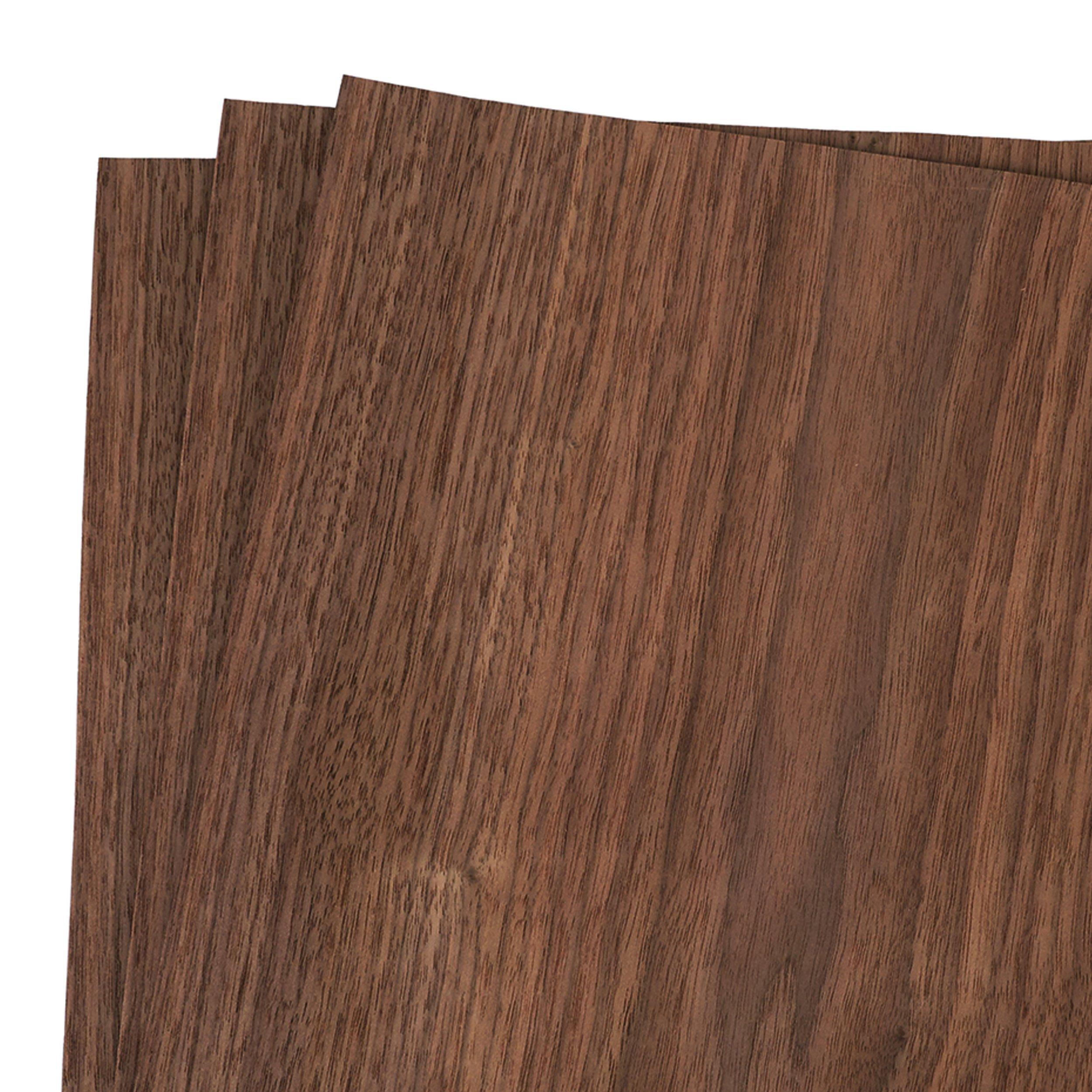 Walnut Veneer 12'' x 12'', 3-Piece