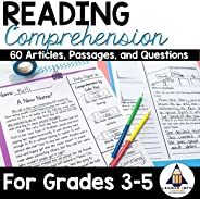 Reading Comprehension Passages and Questions for Grades 3-5 - (Non-fiction articles, Fictional Stories, Compre