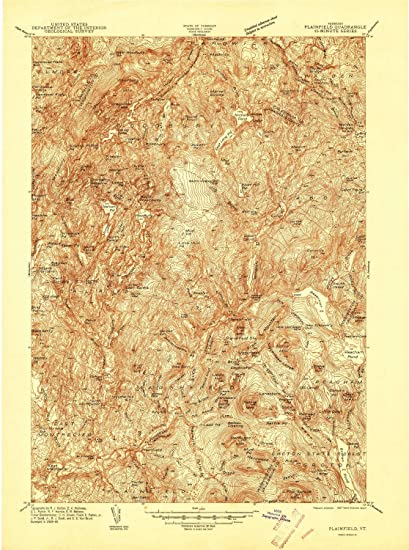 Amazon.com : YellowMaps Plainfield VT topo map, 1:48000 Scale, 15 X ...