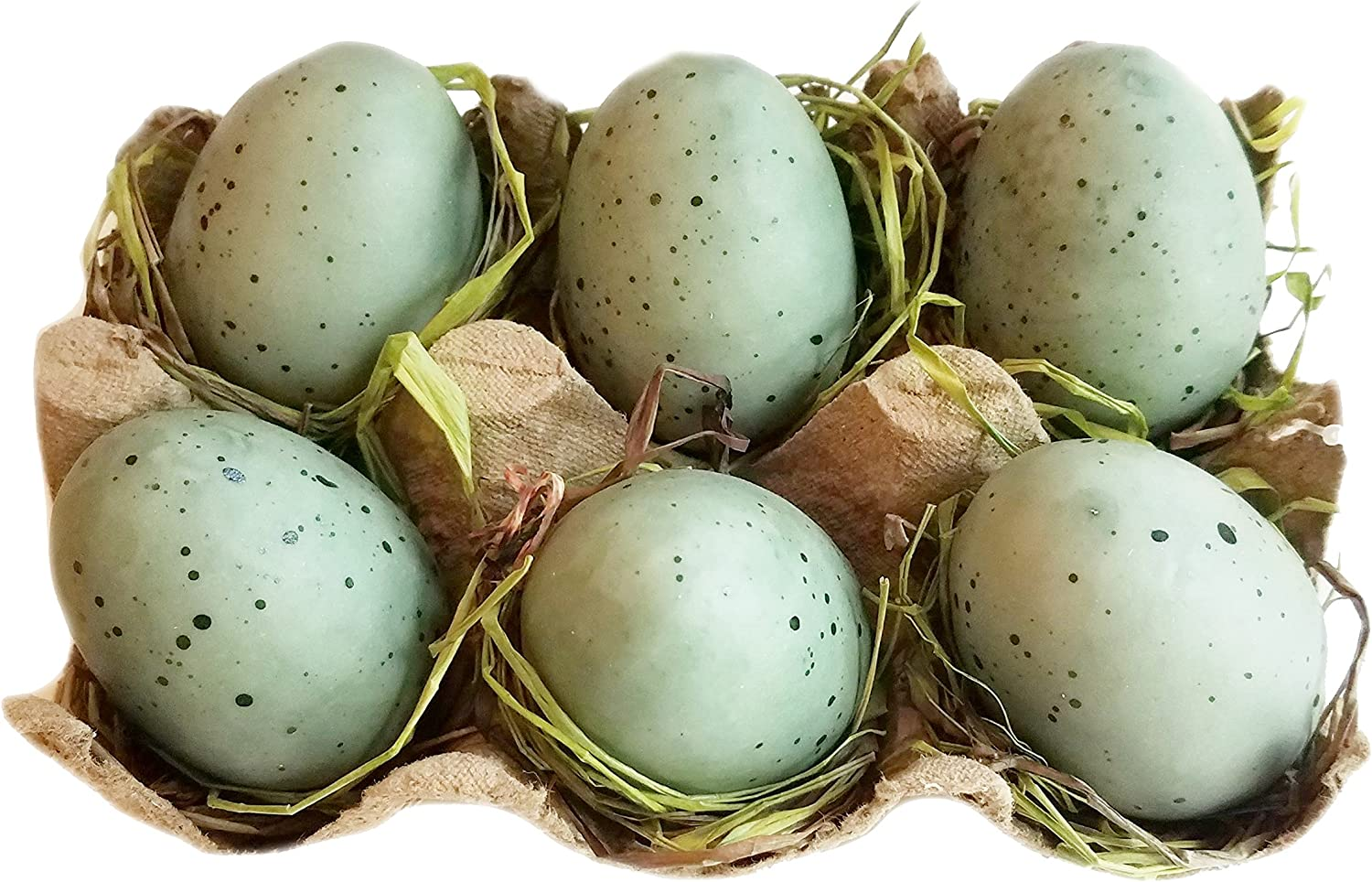 The Country House Collection Tray of 6 Blue Eggs 1-1.5 W