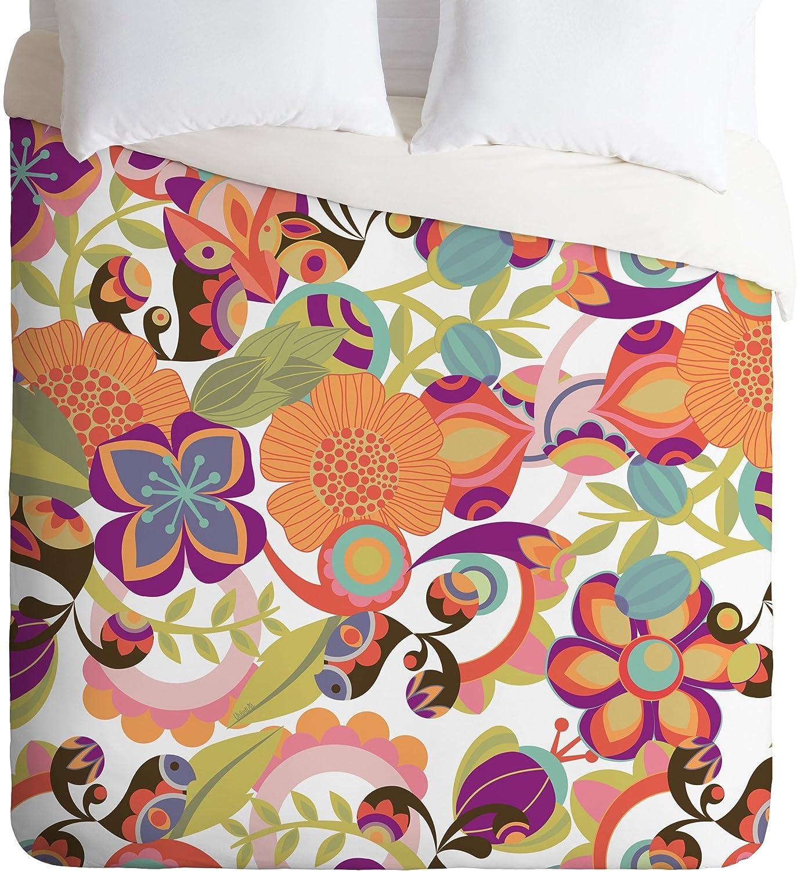Queen Deny Designs Valentina Ramos Birds in The Garden  Duvet Cover