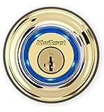 Kwikset - Kevo 99250-201 Kwikset Kevo (2nd Gen) Touch-to-Open Bluetooth Smart Lock, Works with Amazon Alexa via Kevo Plus, in Polished Brass