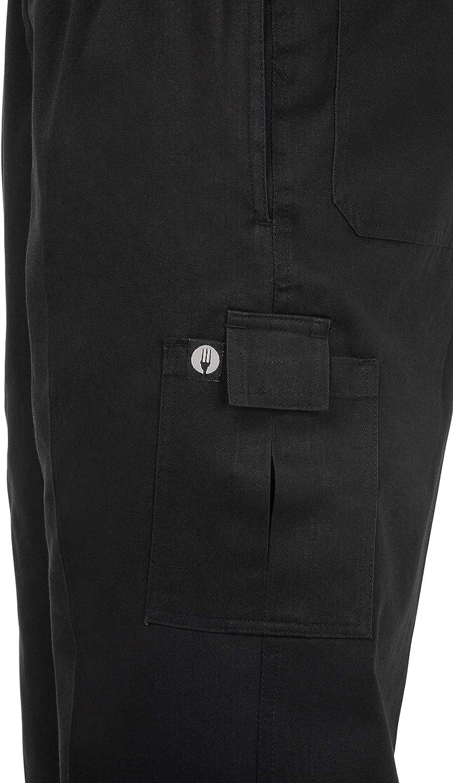 negro Chef obras b222-s Slim Fit pantalones cargo peque/ño