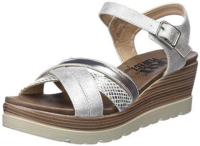 XTI Damens's 47939 Ankle Strap 5.5 Sandales, Silver (Platinium), 5.5 Strap UK ... 95f4b1