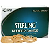 Alliance Rubber 24545 Sterling Rubber Bands Size #54, 1 lb Box (Assorted sizes, Natural Crepe)