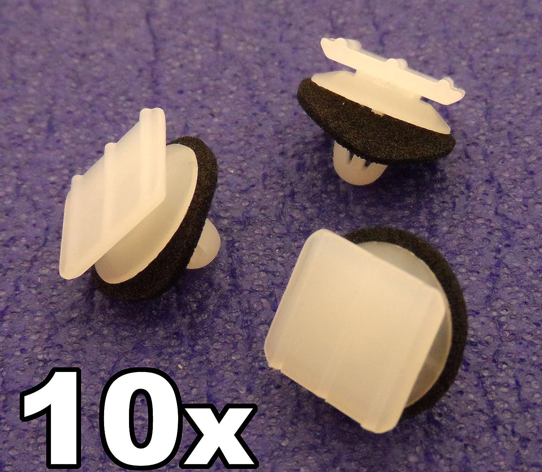Zierleisten 76222-SP1-003, 76222SP1003 Garnitur 10x Plastik Klips F/ür Dreieckig Au/ßenspiegel