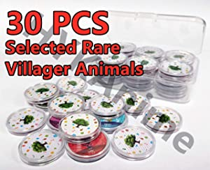 NFC Tag Coin Game Cards 30pcs Selected Rare Villager for AC New Horizons Compatible with Switch with Storage Box