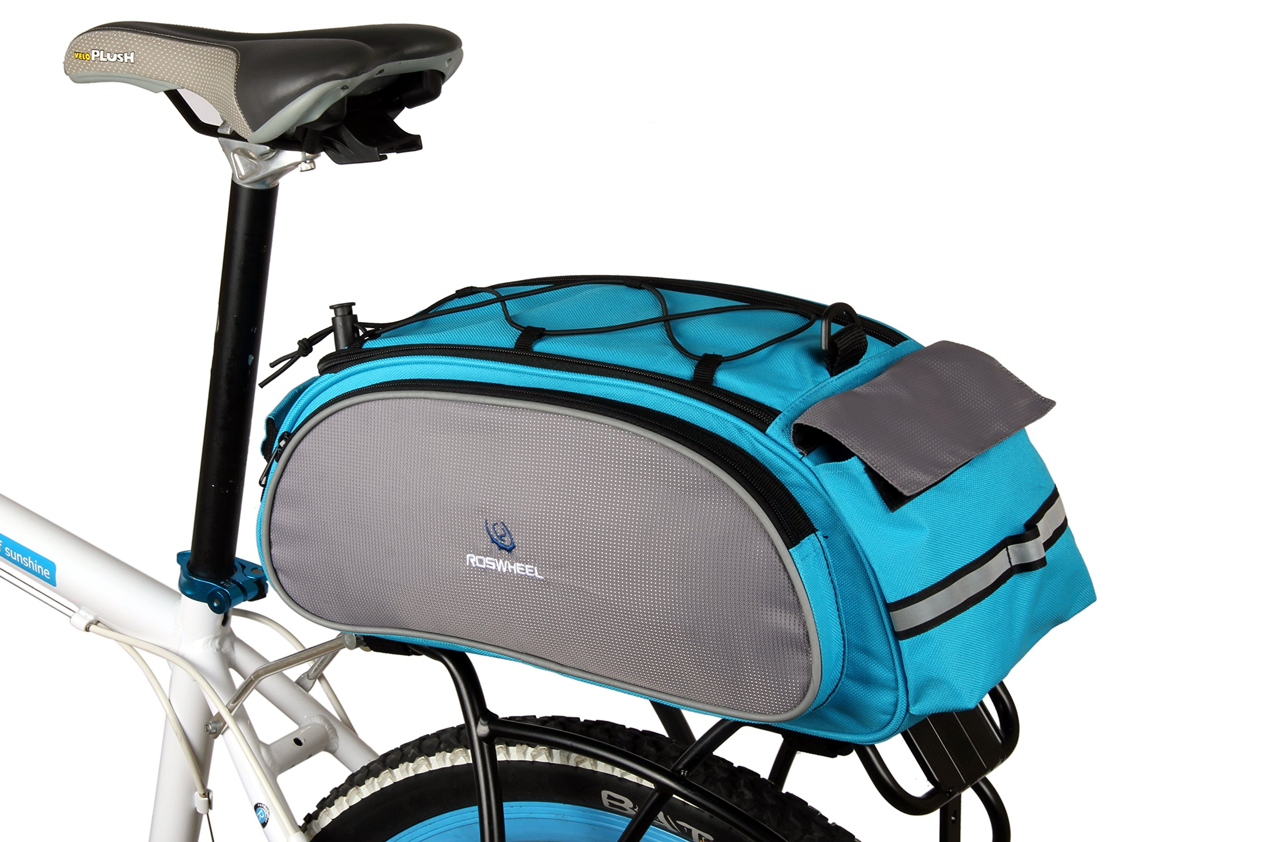 Best Fit For U Roswheel Bicycle Cycling Bike Saddle Rack Seat Cargo Bag Rear Pack Trunk Pannier Handbag Blue Outdoor Traveling New(Blue) by Best Fit For U (Image #1)