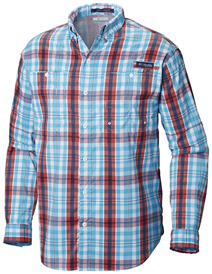 f8af56dd43a Columbia Men's PFG Super Tamiami Long Sleeve Shirt, UPF 40 Sun Protection,  Wicking Fabric