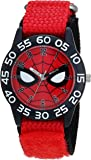 MARVEL Boys Spider-Man Analog-Quartz Watch with Nylon Strap, red, 16 (Model: WMA000186)