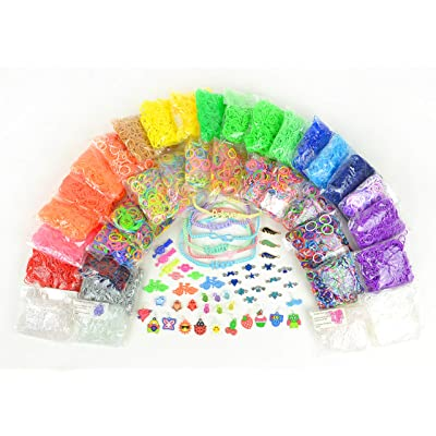 17,774+ Premium Rainbow Color Loom Bands - Bonus Includes 6 Inspirational Bracelets + Free Rubber Band Bracelet, Jewelry and Craft Project Sheet: Arts, Crafts & Sewing