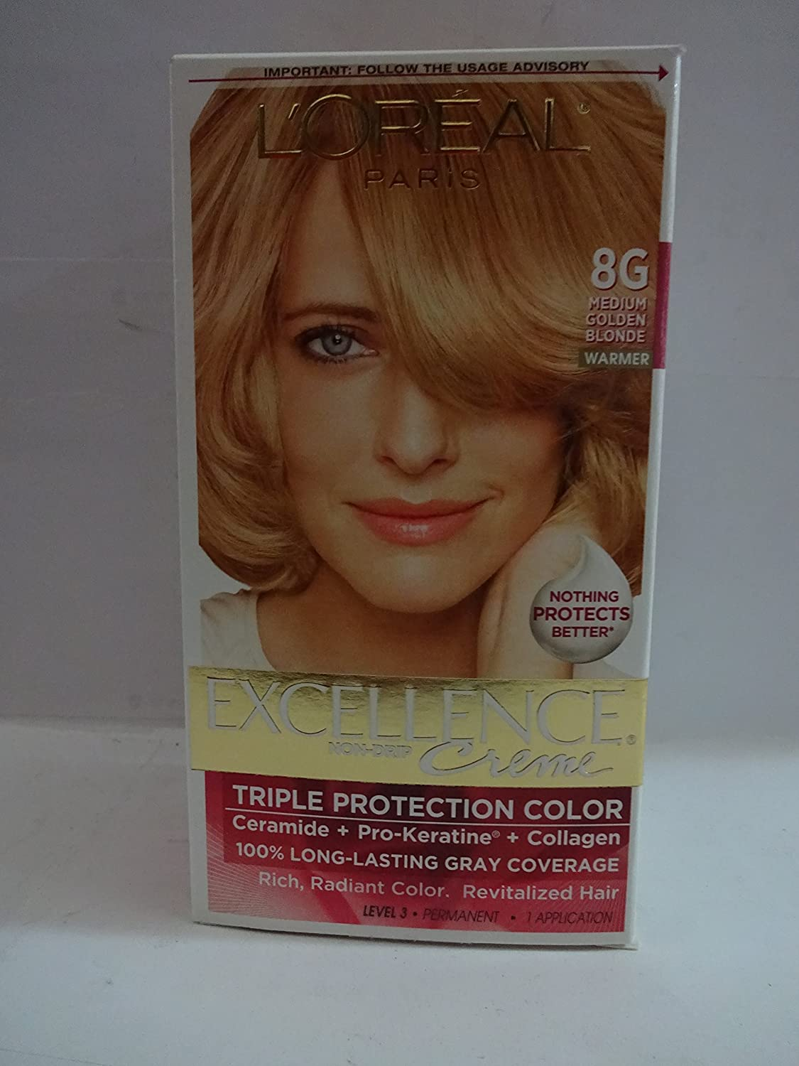 Exc Hc Gld Bld 8g R Size 1ct Loreal Excellence Creme Hair Color