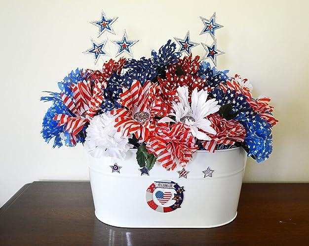 Amazon Com Patriotic Table Decoration Centerpiece Floral
