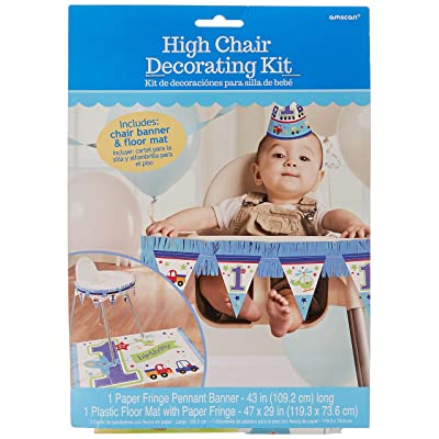 """All Aboard Boy"" High Chair Decorating Kit, Birthday: Toys & Games"