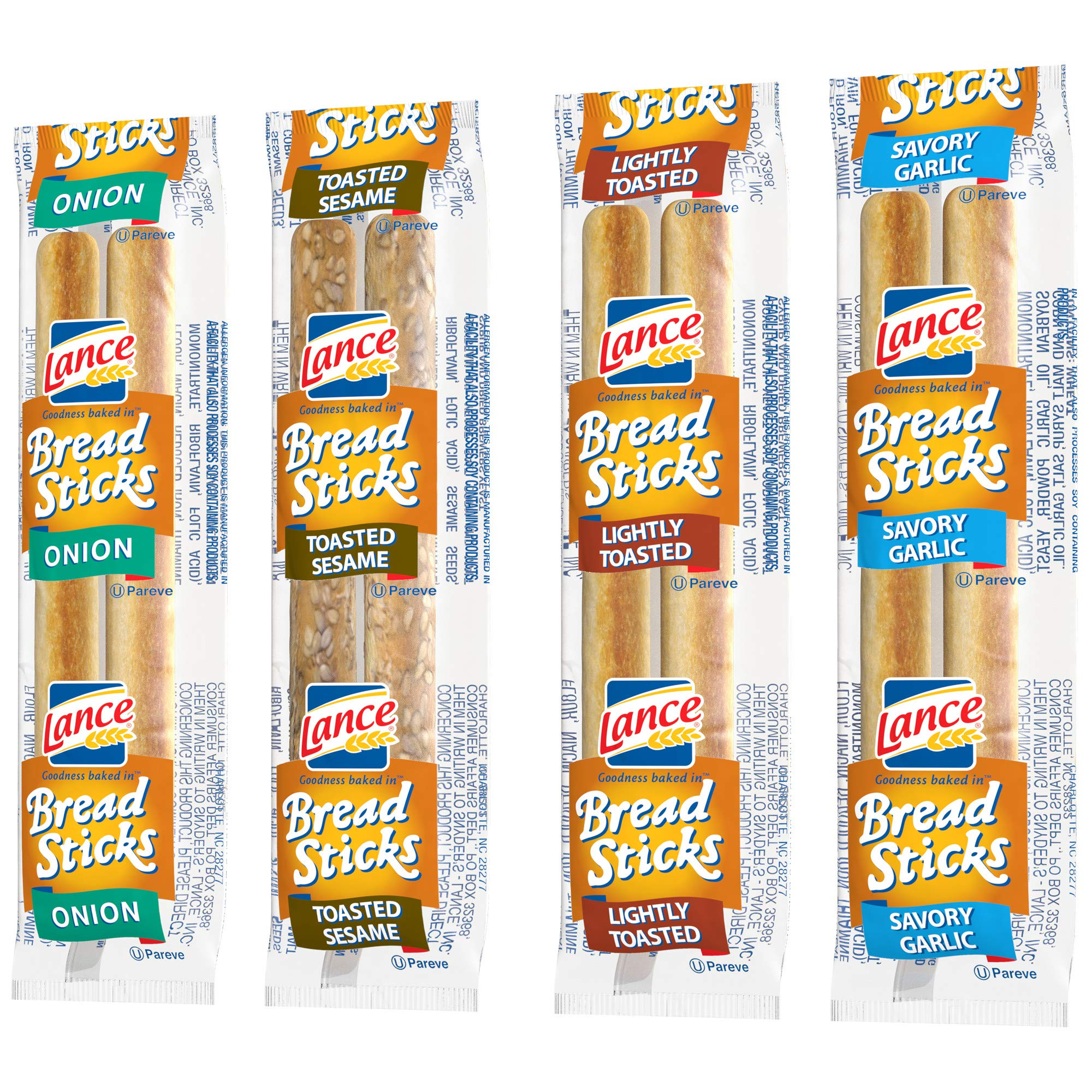 Lance Variety Breadsticks (4 Flavors), 2 Pieces per Pack, 500 Count by Lance (Image #5)