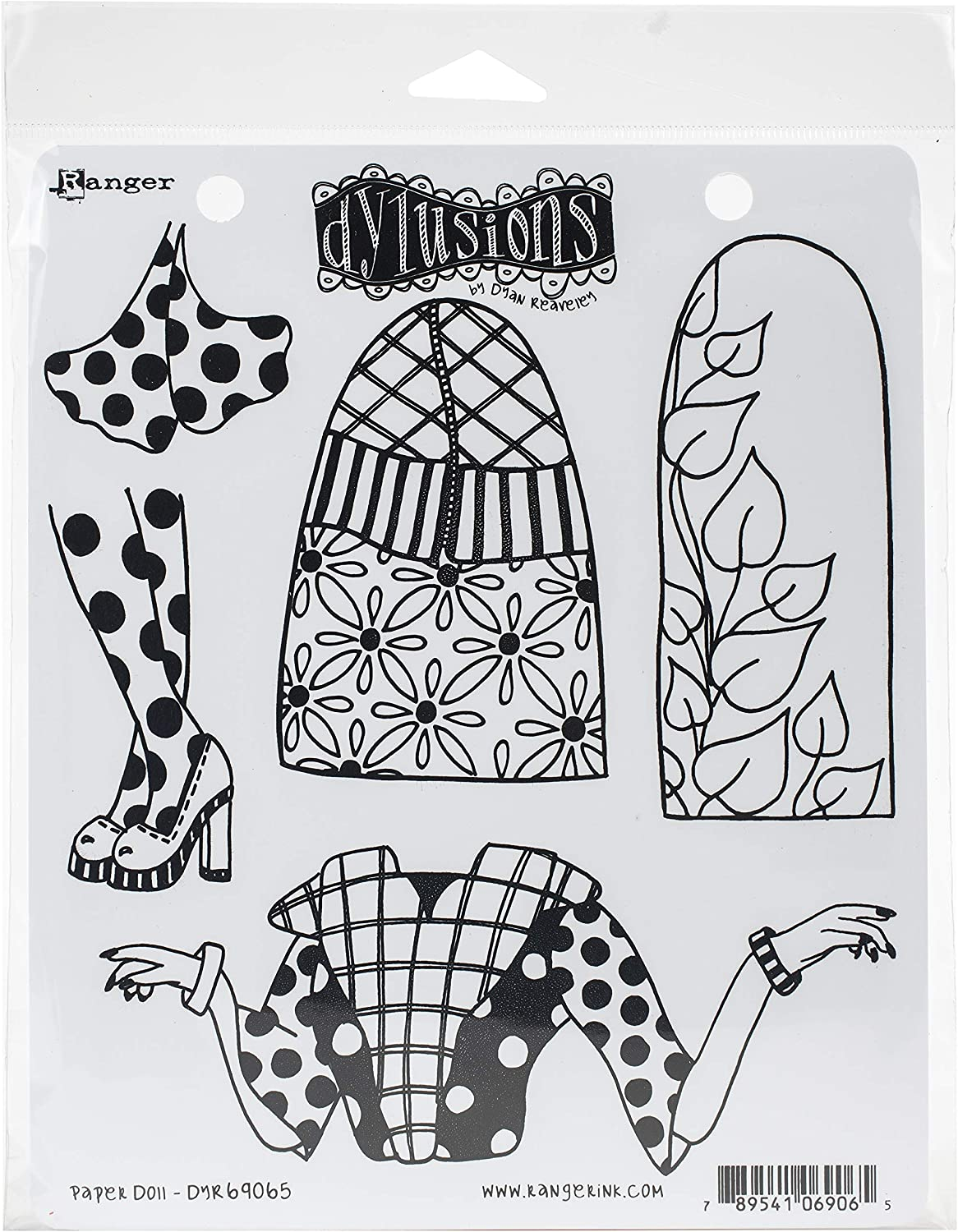Dyan Reaveleys Dylusions Cling Stamp Collections 8.5x7-paper Doll