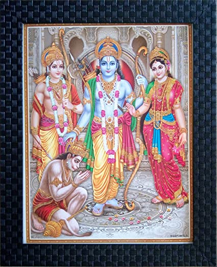 Buy Shree Handicraft Ram Laxman Sita P O Frames Black  X 1 Cm Acrylic Sheet Online At Low Prices In India Amazon In