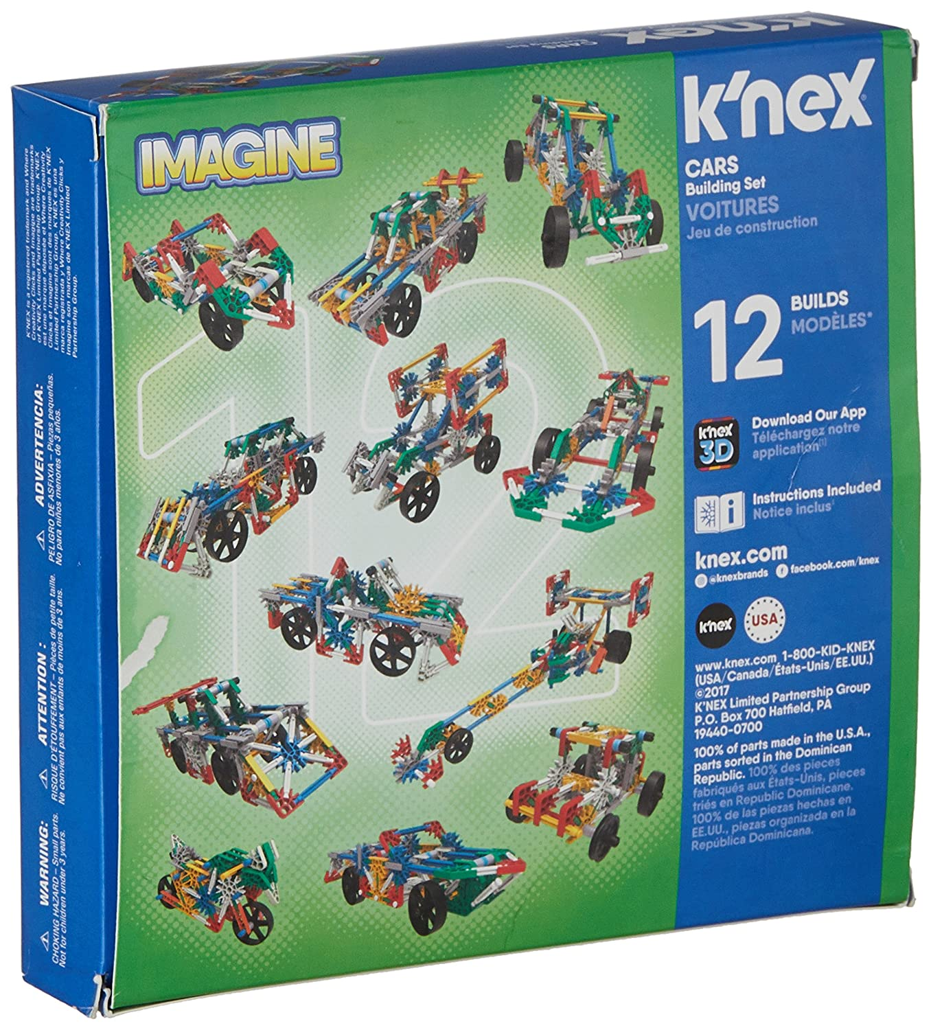 90f55e0e903 K'Nex 25525 Imagine 12 Model Cars Building Set, 186 Pieces, Ages 7+  Engineering Education Toy: K'Nex: Amazon.co.uk: Toys & Games