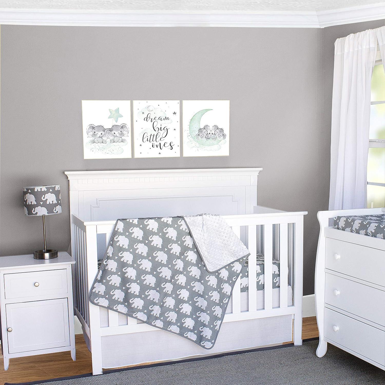 Pam Grace Creations Indie Elephant 3Piece Crib Bedding Set