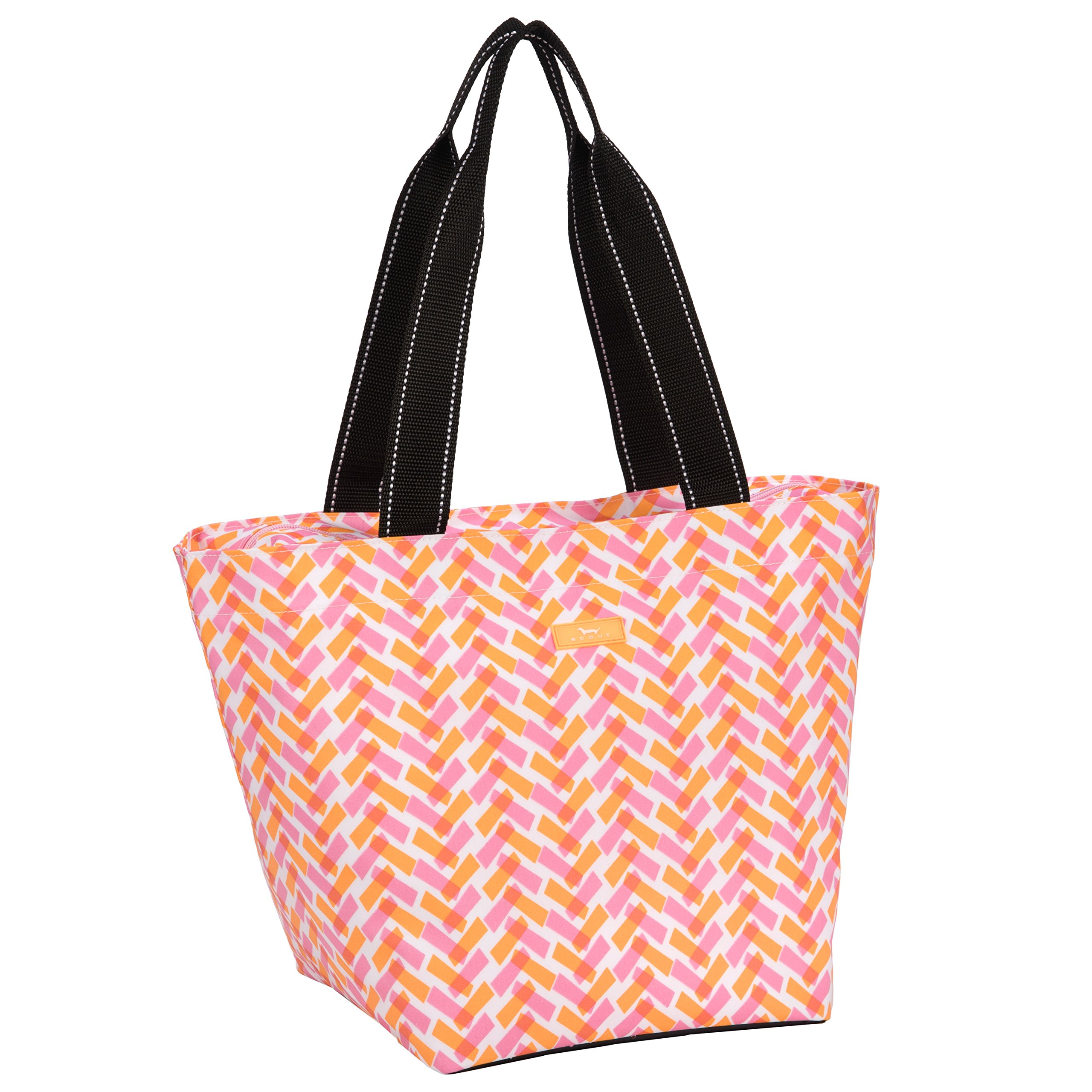 SCOUT Daytripper Everyday Tote Bag, Shoulder Bag, Water Resistant, Wipes Clean, Zips Closed, Spicy Tuna