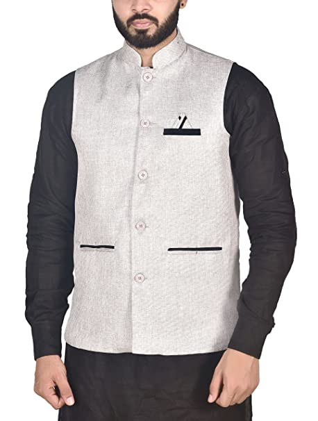 ef608034296 OORA Men s Woven Cotton Blend Nehru and Modi Jacket Ethnic Style For ...