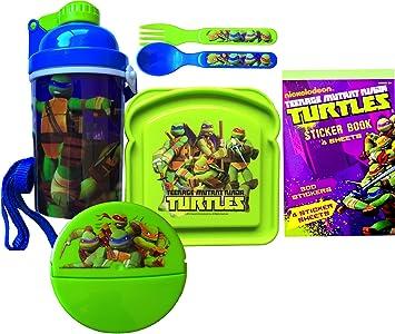 Amazon.com: Teenage Mutant Ninja Turtles 6 Piece Lunch Kit ...