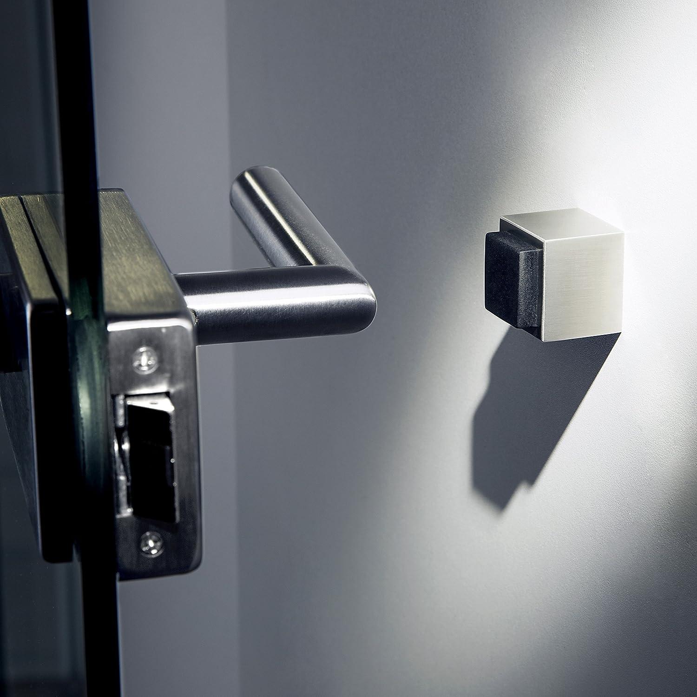 Sotech Butoir de Porte Rook 25 Acier affin/é Massif 29 x 29 mm