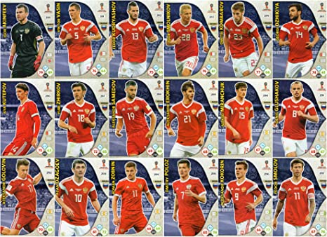 Adrenalyn XL FIFA World Cup 2018 Full 18 Tarjeta Rusia Equipo Set: Amazon.es: Deportes y aire libre