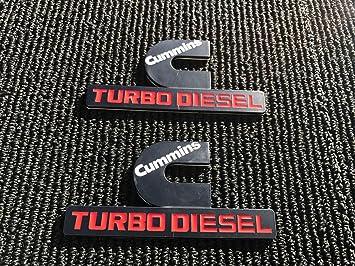 2 PC nuevo Dodge Ram 1500 2500 3500 negro Cummins Turbo Diesel Fender Logo Emblema: Amazon.es: Coche y moto
