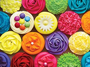 300 Large Piece Puzzle for Adults: Cool Cupcakes Jigsaw Puzzle