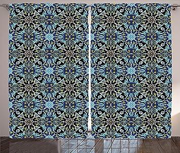 marocain Rideaux Décor Bohème orientale Arabic Pattern avec ...