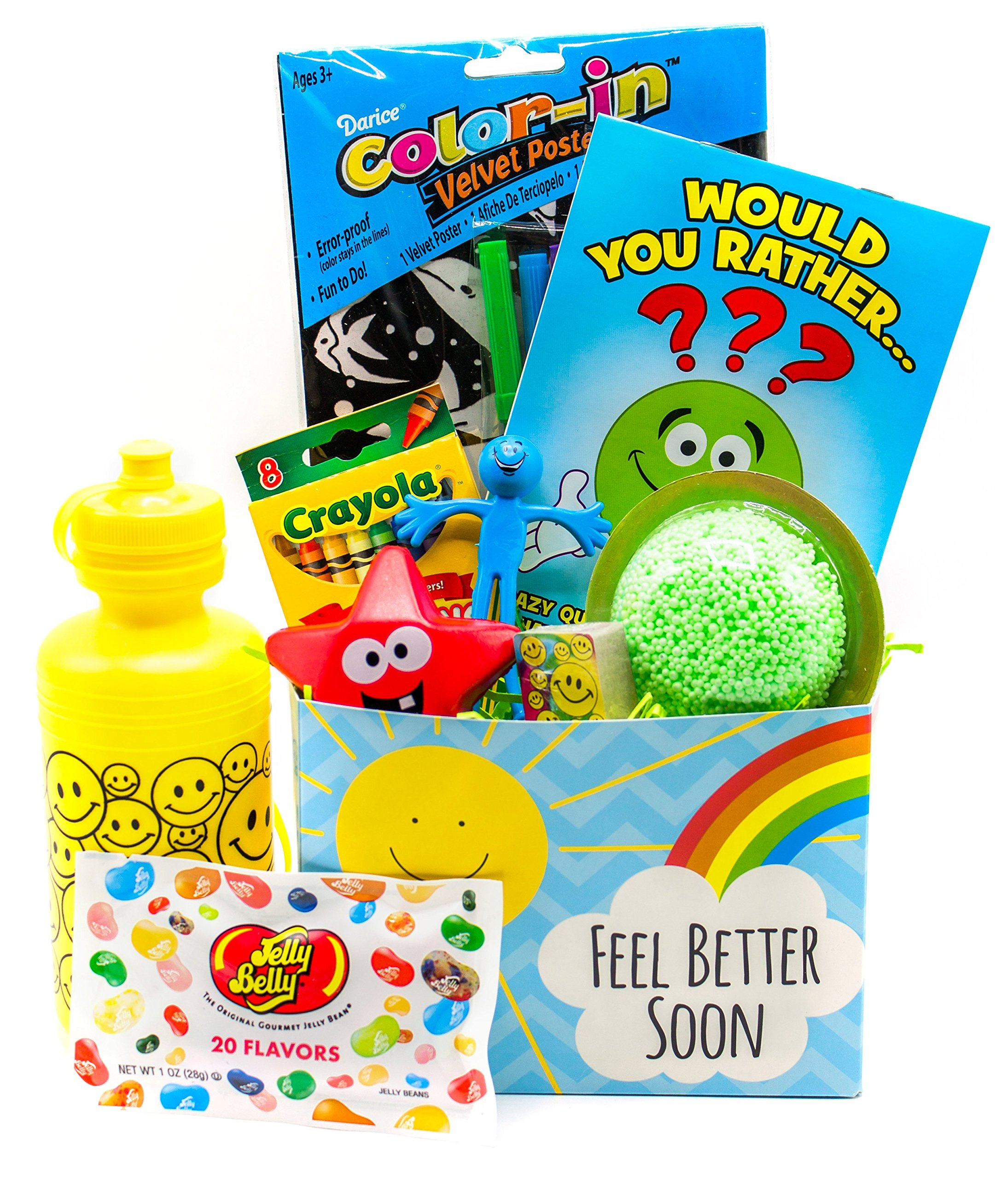 Nine at Thirty-Nine Get Well Gift Basket for Kids with Toys, Activities and Candy   Just Right for Children Who Are Sick or Recovering   Boys or Girls Ages 3-10   Colors May Vary (Neutral Colors)