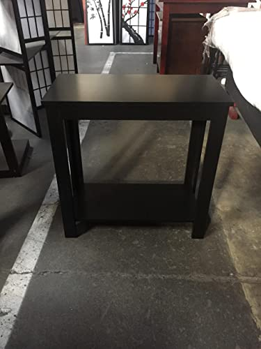 Side Table Black White Espresso Walnut Black