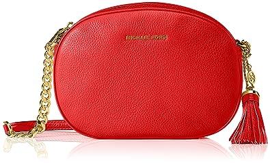 6ee8668076fe Michael Kors Md Messenger, Women's Cross-Body Bag, Rot (Bright Red ...