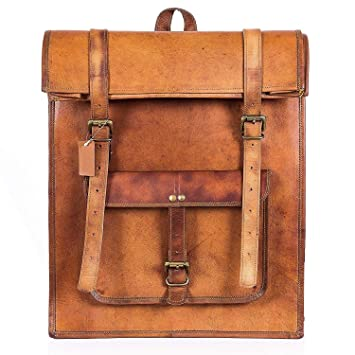 6738b2fdc1cc Amazon.com: Leather Classy Retro/Vintage Dapper Rucksack/Backpack ...